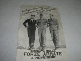 CARTOLINA GIORNATA DELLE FORZE ARMATE 4 NOVEMBRE - Patriottiche