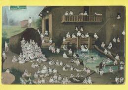 * Fantaisie - Fantasy (Bébés Multiples - Baby) * (Serie 384/1) Ferme, Boerderij, Farm, Cygne, Swan, Egg, Oeuf, Ei Paques - Bebes
