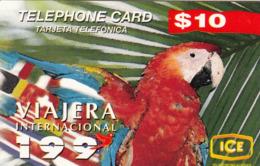 COSTA  RICA-  Parrot, ICE Prepaid Card $10, 10/96, Used - Costa Rica