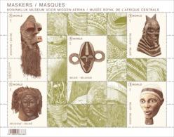 Blok 258**  MASKERS Uit Tervuren MNH- Koninklijk Museum Voor Midden Afrika 4737/41**Musée Royal De L'Afrique Central - Belgium