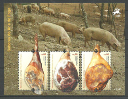 Portugal  2012 Portuguese Sausage And Ham, Ham From Melgaço, Vinhais, Barroso, Pigs  Mi Bloc 338, MNH(**) - Ungebraucht