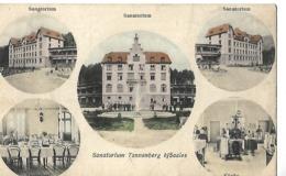 CPA 1907 / 67 Sanatorium Tannenberg Sur Saales / Vue Externe Et Interne / Tampon 88 Senones à Etival Pour PARIS - France