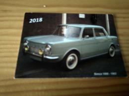 "Portuguese Pocket Collection Calendar,Calendário De Colecção ""Old Car, Simca 1000 De 1963"" Year 2018 - Calendarios"