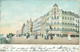 Ostende 1906; Digue Ouest - Voyagé. (Dr. Trenkler Co. - Anvers) - Oostende