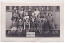 92-LEVALLOIS PERRET PHOTO DE CLASSE ÉCOLE PRIMAIRE ANNÉE 1945-46 - School