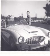 PETITE-PHOTO-ORIGINALE -VOITURE ANCIENNE 1958-60- DIM 6X6 CM - Automobiles