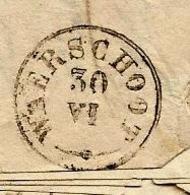 WAERSCHOOT 30 IV (type 18), Brief Met Inhoud, Afst. GAND 29/09/1848 + PP In Kader, Port 2 (verso) - 1830-1849 (Independent Belgium)