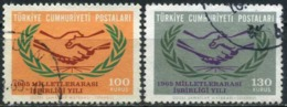 Turkey 1965 - Mi. 1951-52 O, International Co-operation Year - 1921-... République