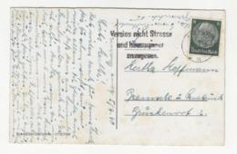 Vergiss Nicht Strasse Und Husnummer - Slogan Postmark On Postcard Essen Posted 1940 B191020 - Deutschland