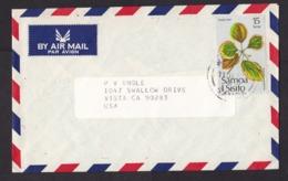 Samoa: Airmail Cover To USA, 1982, 1 Stamp, Leaf, Leaves, Plant, Rare Real Use (traces Of Use) - Samoa