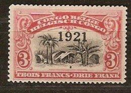 Belgisch Congo Belge 1921 OCBn° 92 (*) MLH Cote 3,75 € Surcharge - 1894-1923 Mols: Neufs