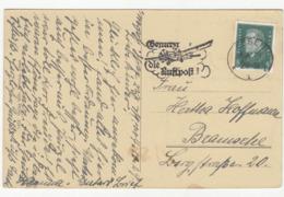 Bennutzt Die Luftpost - Slogan Postmark On Postcard Essen Polizeipräsidium Posted 1929 B191020 - Deutschland