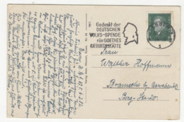 Deutschen Volks-Spende Für Goethes Gerburtstätte- Slogan Postmark On Postcard Essen Landgericht Posted 1932 B191020 - Deutschland