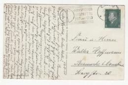 Fernsprecher Spart Zeti Und Geld - Slogan Postmark On Postcard Essen Justizgebäude Posted 1930 B191020 - Deutschland