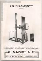 1941 LIVRET MATERIEL MEDICAL / RADIOGRAPHIE  / MEDECINE /  SANTE /  MASSIOT COURBEVOIE  E27 - Frankreich