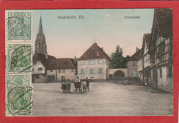 CPA: Scherweiler (67) Zimmerplatz - Autres Communes