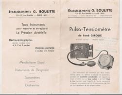 PULSO TENSIOMETRE DE RENE GIROUX / MATERIEL MEDICAL / MEDECINE /  SANTE /  BOULITTE PARIS / COUTELLERIE NIMES   E27 - Frankreich