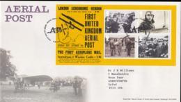 Great Britain FDC 2011 First United Kingdom Aerial Post Souvenir Sheet (NB**LAR5-68) - Correo Postal