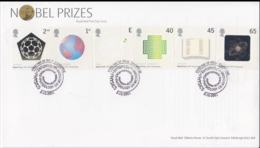 Great Britain FDC 2001 Nobelprizes - Sadly Bowed In Top Of Cover (NB**LAR5-68) - Nobel Prize Laureates