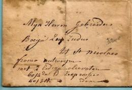 """Bodebrief 23/08/1843, Manuscript TURNHOUT Naar Zeepzieders St Nicolas + """"franco Antwerpen Met 2 Ledige Olievaten ..."""" - 1830-1849 (Independent Belgium)"""