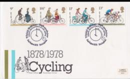 Great Britain FDC 1978 Cycling   (NB**LAR5-68) - Cycling