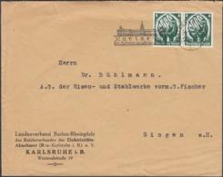 Germany - Reichsverbandes Der Elektrizitäts-Abnehmer. MiNr.544 MeF Brief, Werbestempel KARLSRUHE, 4.2.1935. - Lettres & Documents