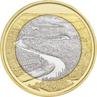 """FINLANDIA  5€ 2.018  2018  BIMETALICA """"Paisajes Nacionales – Río Oulanka""""  SC/UNC T-DL-12.298 - Finlandía"""