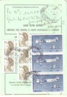 Ordre De Réexpédition Définitif (base Poste Aérienne) Oblitéré OUISTREHAM GA CALVADOS - Poststempel (Briefe)