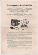 1941 SPHYGMOPHONE BOULITTE KOROTKOW / MATERIEL MEDICAL  / MEDECINE /  SANTE /  BOULITTE PARIS / COUTELLERIE NIMES   E27 - Frankreich