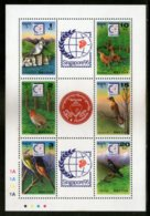 Bhutan 1995 Birds Kingfisher Cock Fowl Wildlife Animal Sc 1113 Sheetlet MNH # 8443A - Birds