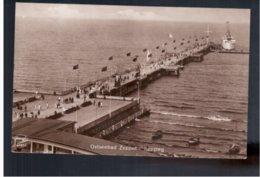 POLAND  Ostseebad Zoppot- Seesteg Motorschiff 1931 Old PHOTO Postcard - Pologne