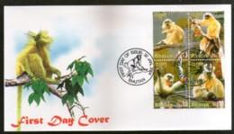 Bhutan 2004 Golden Langur Wildlife Animal Fauna Sc 1399 FDC # 16587 - Monkeys