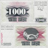 Bosnia And Herzegovina 1992 - 1000 Dinara - Pick 15 UNC - Bosnia And Herzegovina