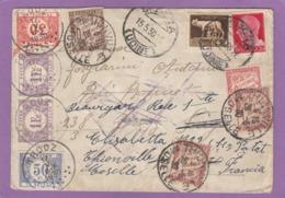 LETTRE D'ITALIE POUR TROOZ,ENSUITE THIONVILLE,TAXÉE EN BELGIQUE ET EN FRANCE,1930. - Postage Due