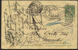 Entier CP 5c Obl. BRAINE-LE-COMTE Vers Bxl 1913. INCONNU Et Retour - Postcards [1909-34]