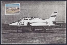 "Yugoslavia 1982 ""Seagull-4"" Aircraft, Commemorative Paper - 1945-1992 Socialist Federal Republic Of Yugoslavia"