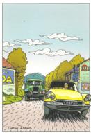 CP Voiture 3236 Route Nationale 9 Citroën DS - PKW