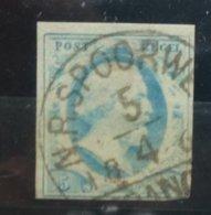 NEDERLAND     1852    Nr. 1   Met Stempel  'Spoorweg'       CW  50,00 Euro - 1852-1890 (Guillaume III)