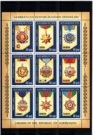 Azerbaijan 2011 .Orders Of Azerbaijan. M/S Of 9v X 60qep.  Michel # 857-65 KB - Azerbaiján