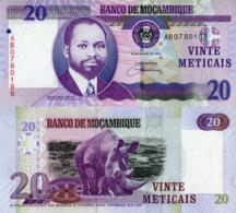 "MOZAMBIQUE 20 Meticais, 2006, P143, UNC, ""Rhino"" Polymer - Mozambique"