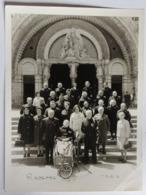 Grande Photographie Lourdes 1969 Plusieurs Personnes De Radenac 56 Morbihan Dont Ancien Combattant - Lieux