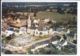 LANDÉBIA - Le BOURG - église Cimetière - Cliché Aérien Original - Essai Avant Retirage 35-65 - Archive COMBIER - UNIQUE - Other Municipalities