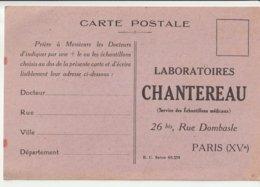 Laboiratoires Chantereau Paris - Werbepostkarten