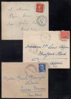 TERRITOIRE DE BELFORT / 1910-1932-1952 CHATENOIS & ROUGEMONT ENSEMBLE DE 3 LETTRES  (ref 1257) - 1877-1920: Période Semi Moderne