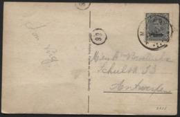 OCCUP. BELGE EN ALL - 3c Surch MALMEDY Obl. MALMEDY S/CP Vers Anvers 1921. Cantons De L'est EUPEN MALMEDY - WW I