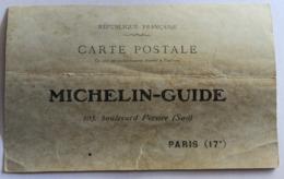 Rare CPA Publicitaire Michelin Guide 105 Boulevard Pereire Paris Années 1910 Pour Les Mairies - Werbepostkarten