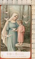 """Antico Santino """"AR-n.436 DIVIN FANCIULLO-Orazione Di S. Bernardo"""", Vedi Foto.. - Religión & Esoterismo"""