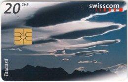 SWITZERLAND A-493 Chip PTT - Nature, Clouds - Used - Switzerland