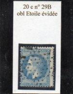 Paris - N° 29B Obl étoile évidée (petit Logement) - 1863-1870 Napoléon III Lauré