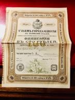EPRUNT  VILLE  D' ODESSA  1902 --------Obligation  De. 100 Roubles - Russia